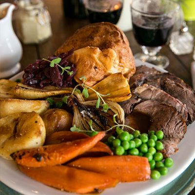 Quality Sunday food at The Angel Inn